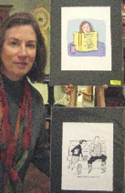Benita shows cartoons at ArtHop, Ethan Allen