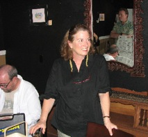 Benita dn Phil Fountain cartoon improv 2009